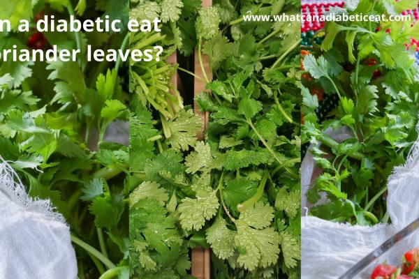 Can a diabetic eat Coriander leaves?