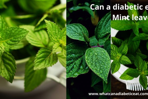 Can a diabetic eat Mint leaves?